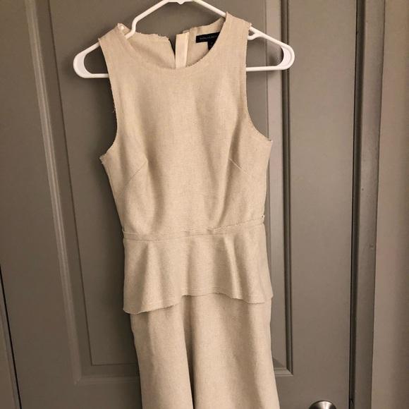 Banana Republic Dresses & Skirts - Banana Republic Cream Linen Peplum Dress